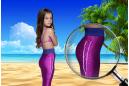 """Фиолетовый хвост русалки """"RiVero"""" с чешуей"""