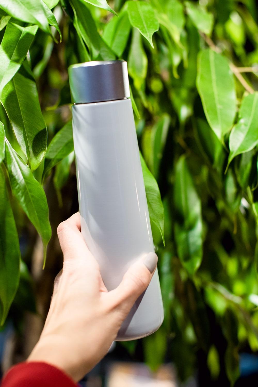 Умная бутылка с напоминанием о питье воды и ЖК-экраном (белая)